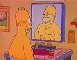 homer in the mirror
