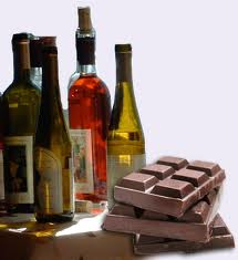 wine and choc